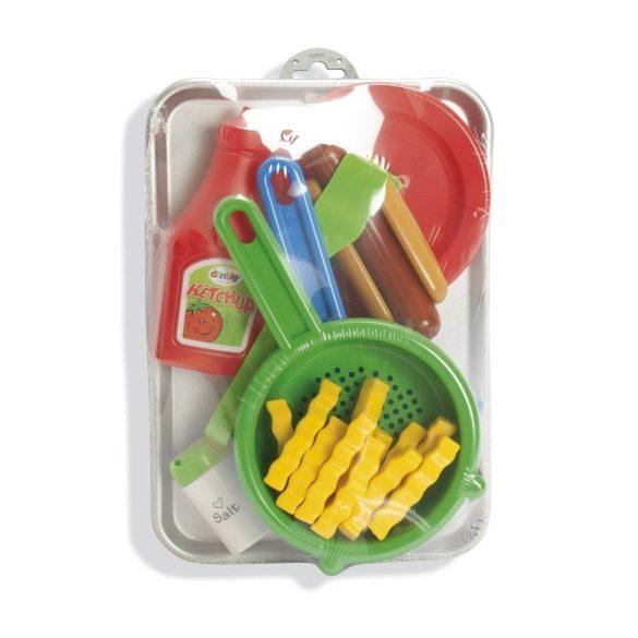 Dantoy műanyag játék hot-dog szett tálcán