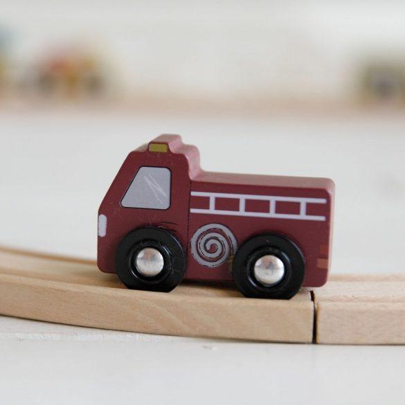 Little Dutch kisautó készlet - fa vasút kiegészítő