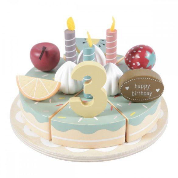 Fa játék szülinapi torta - Little Dutch- 4474