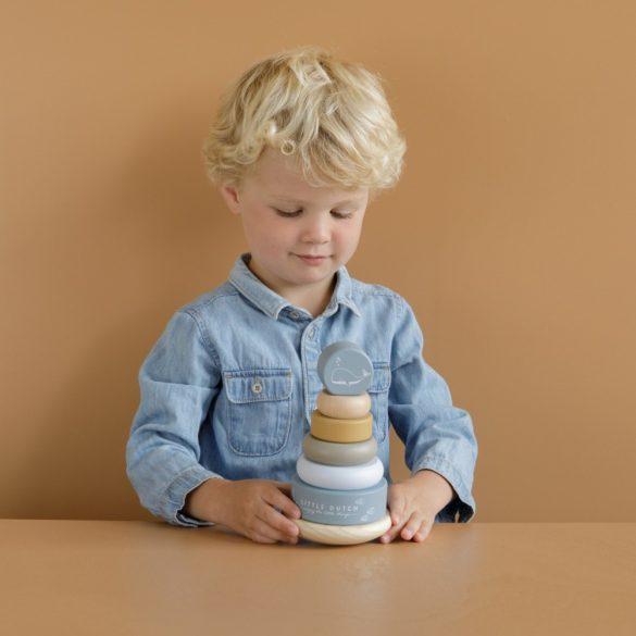 Little Dutch montessori torony - kék