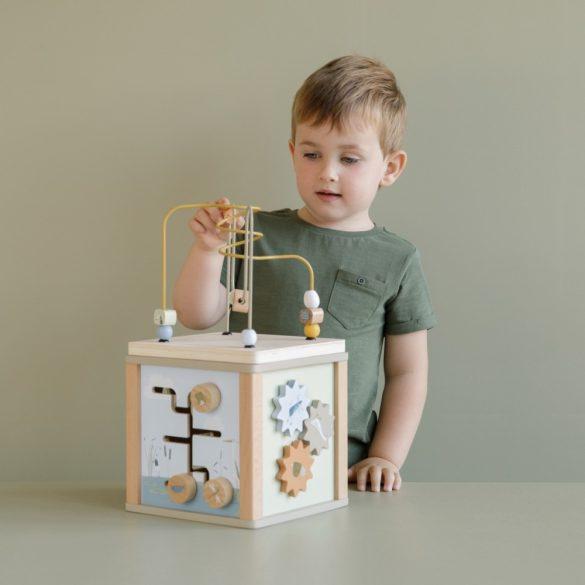 Little Dutch készségfejlesztő kocka - olívazöld