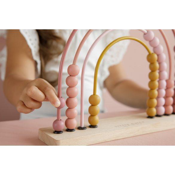Little Dutch abacus szivárvány - pink