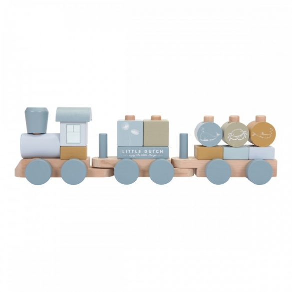 Little Dutch vonat fából - kék
