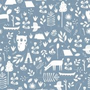 Gyerek tapéta adventure kék - vlies - Little Dutch - 8678