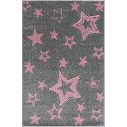 Gyerekszőnyeg Livone GALAXY ezüstszürke rózsaszín 160x230