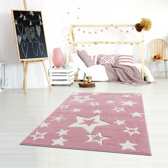 Gyerekszőnyeg Livone GALAXY rózsaszín fehér 160x230