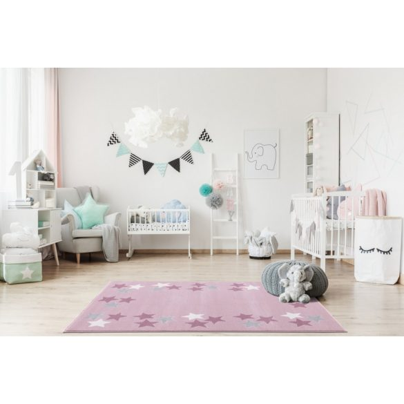 Gyerekszőnyeg Livone SPRING rózsaszín 120x180