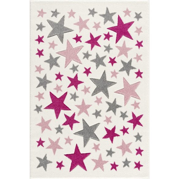 Gyerekszőnyeg Livone STELLA krém rózsaszín 120x180