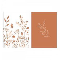 Little Dutch A3 poszter - vad virágok rozsdabarna