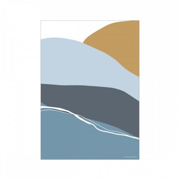 Little Dutch A3 poszter - kék szivárvány