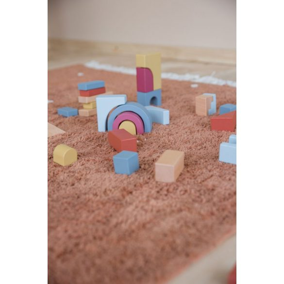 Rozsdaszínű pöttyös, 120x170 cm-es Little Dutch gyerekszőnyeg