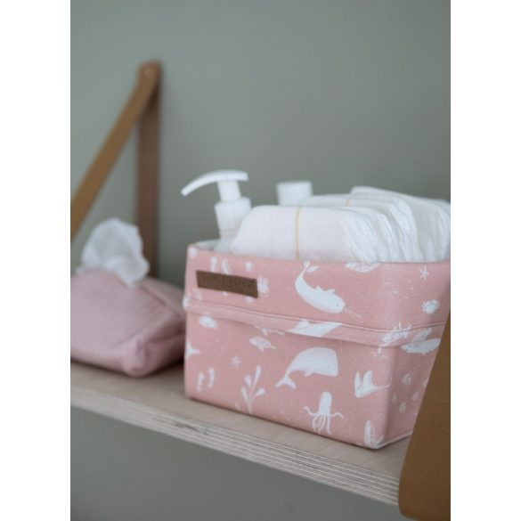 Little Dutch óceán pink textil tárolókosár 15x15 cm