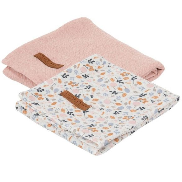Textilpelenka tavaszi virágok 70x70 - Little Dutch - TE50320255