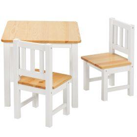 Fa asztal székkel gyerekeknek